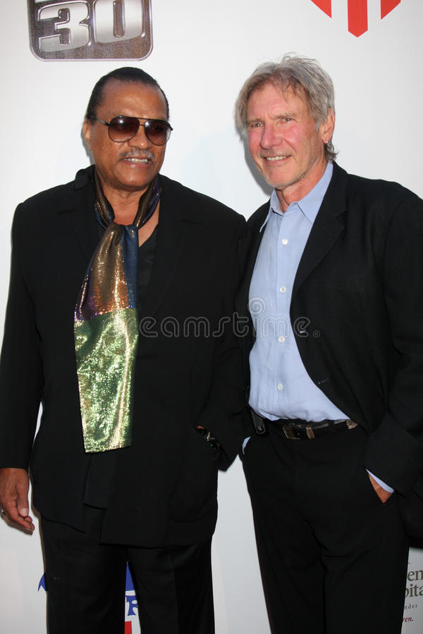 Billy Dee Williams, Harrison Ford, William Harrison photographie stock