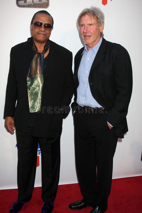 Billy Dee Williams, Harrison Ford, William Harrison photo stock