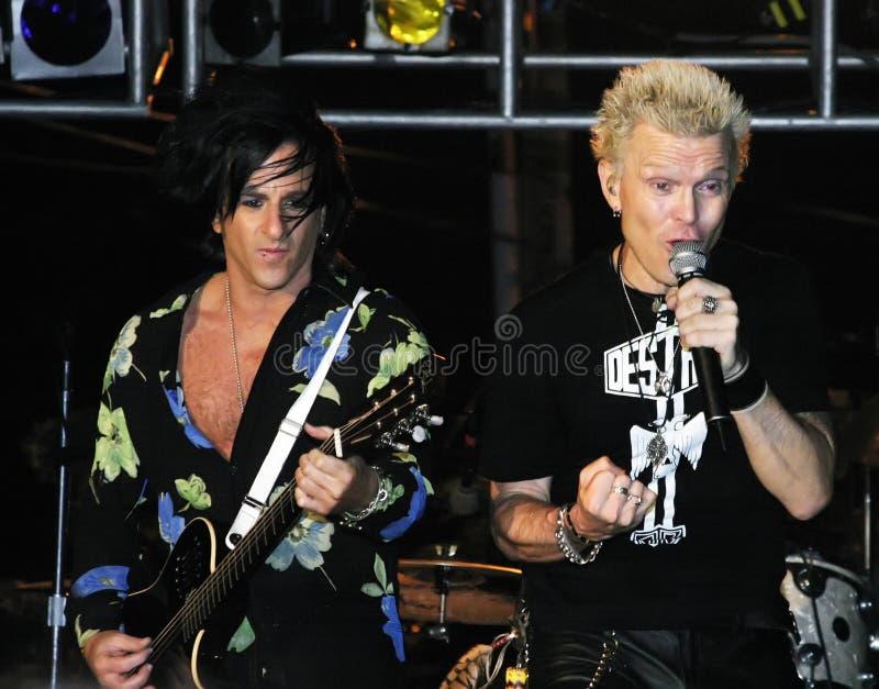 Billy-Idol und Steve Stevens lizenzfreies stockbild