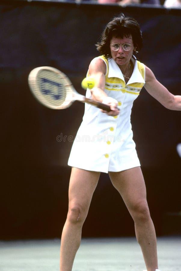Billy Jean King Tennis Player stock fotografie