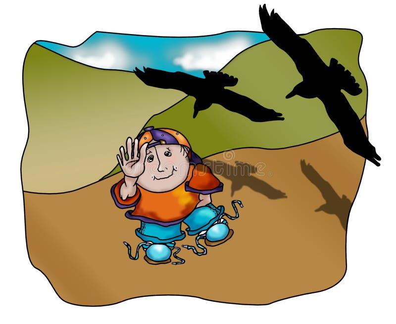 Billy met de Kraaien stock illustratie