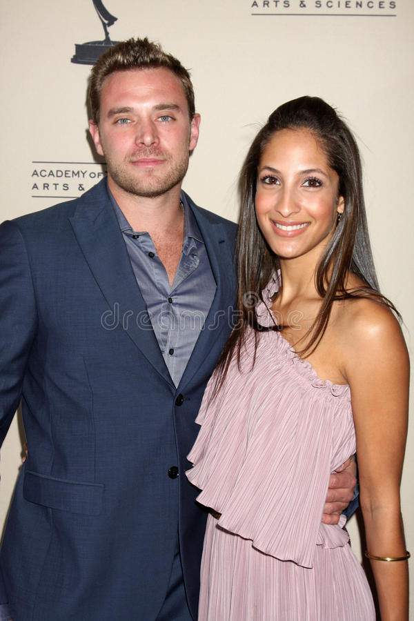 Billy Miller, Christel Khalil photo libre de droits