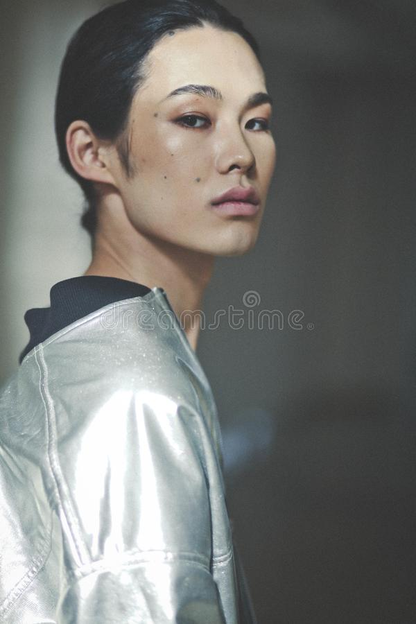 Billy Munkh, Mongools Model royalty-vrije stock afbeeldingen