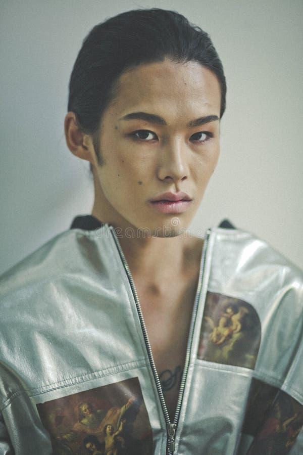 Billy Munkh, Mongools Model royalty-vrije stock foto's