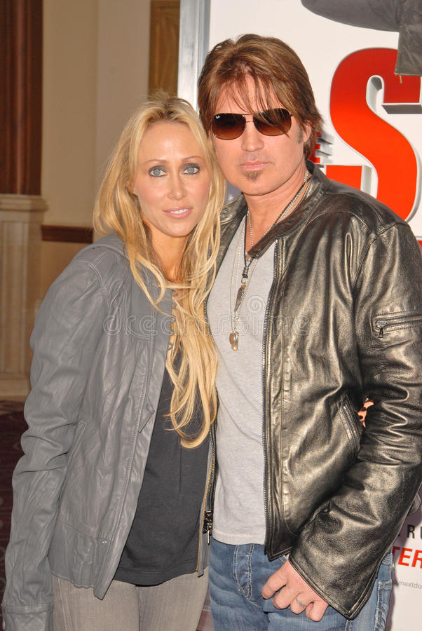 Billy Ray, Billy Ray Cyrus, Tish Cyrus imagem de stock royalty free