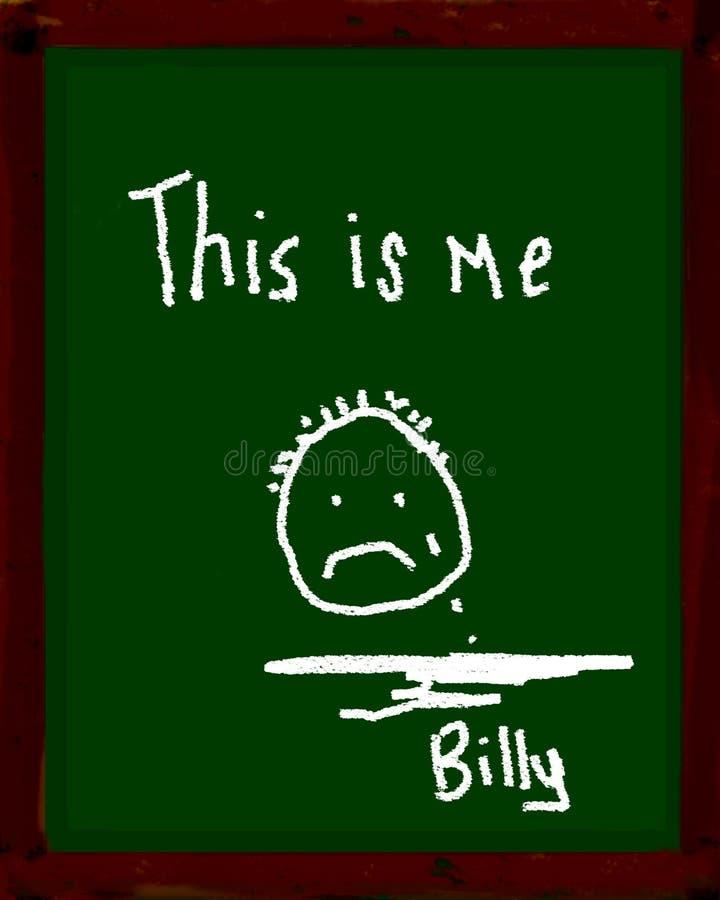billy sad διανυσματική απεικόνιση