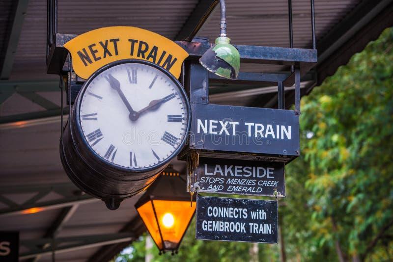 Billy Train Timetable de soufflage photographie stock libre de droits