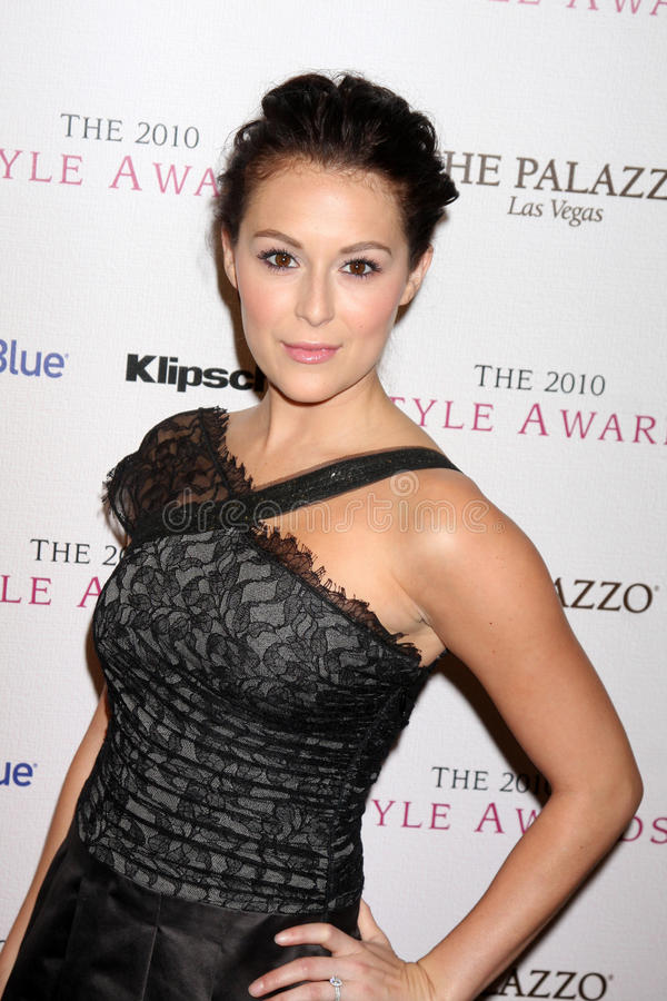 Billy Wilder Alexa Vega royaltyfria foton