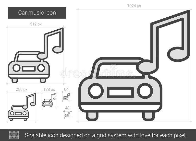 Bilmusiklinje symbol stock illustrationer