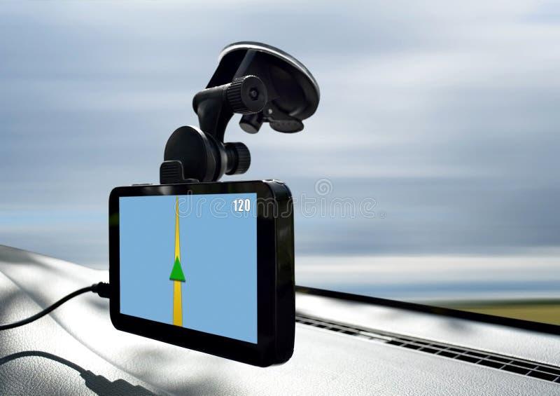 Bilnavigeringsystem arkivbilder