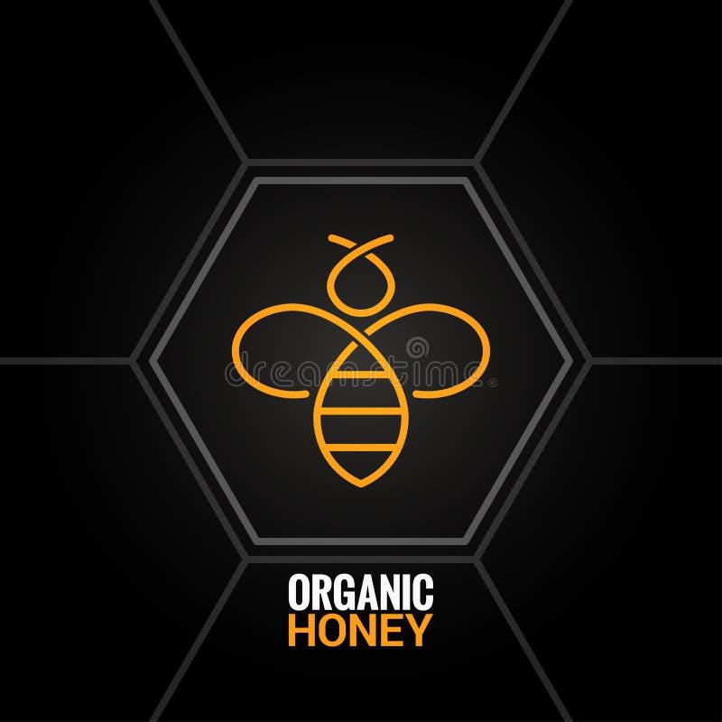 Bilogo på honungskakabakgrund royaltyfri illustrationer