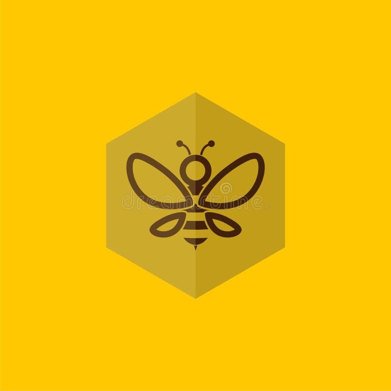 Bilogodesign, enkel bisymbol eller tecken royaltyfri illustrationer