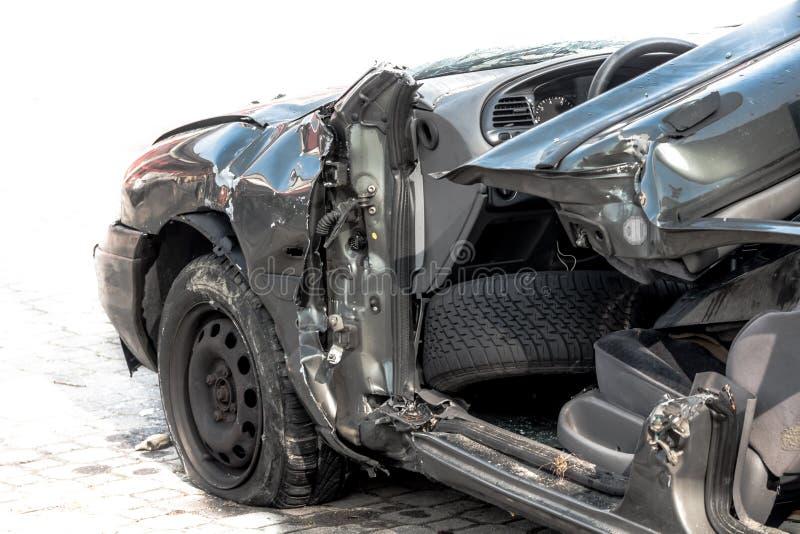 Bilolycka - nära övre sikt royaltyfria bilder