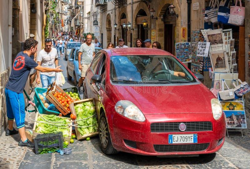 Bilolycka på Sicilien royaltyfri foto