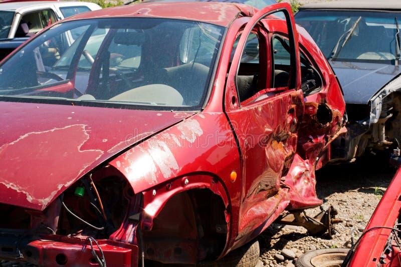 Bilolyckan var skadan var enorm royaltyfri bild