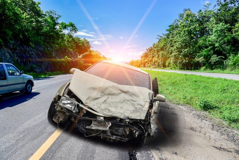 Bilolyckor arkivfoto