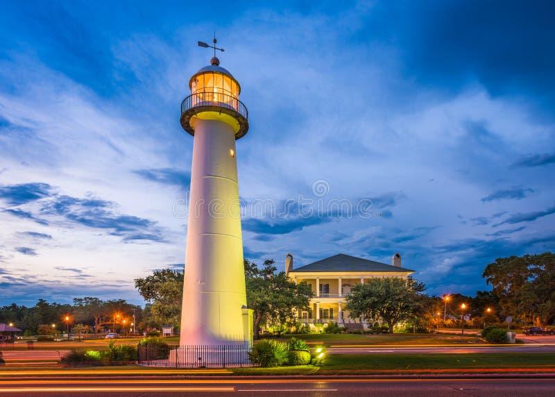 Biloxi,密西西比灯塔 免版税库存照片