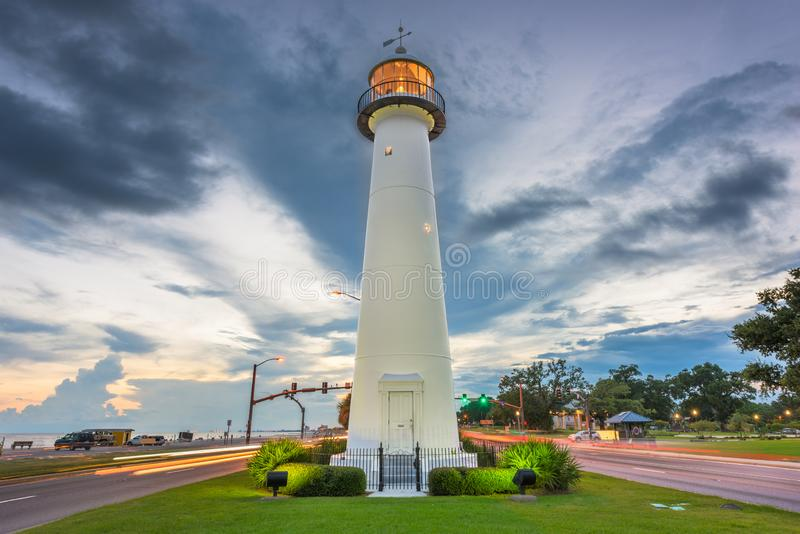 Biloxi, Biloxi灯塔的密西西比美国 免版税库存照片