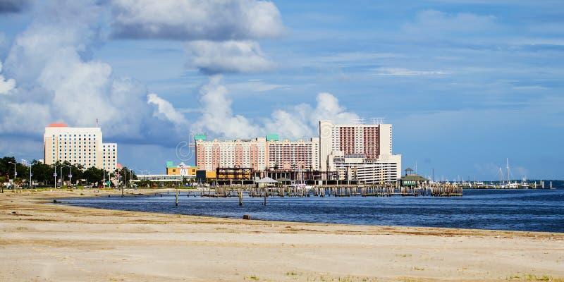 Biloxi, Миссиссипи, казино и здания стоковое фото rf