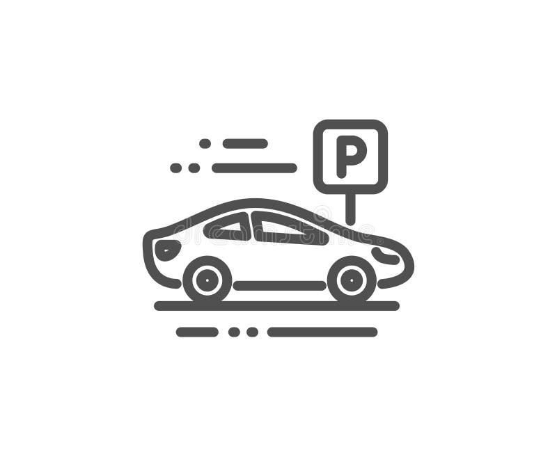 Bilparkeringslinje symbol Parkera ställetecknet kvinnlig s?ng f?r danande f?r hush?llningarbetarhembitr?de med s?ngkl?der p? g?st vektor illustrationer