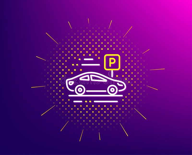 Bilparkeringslinje symbol Parkera ställetecknet kvinnlig s?ng f?r danande f?r hush?llningarbetarhembitr?de med s?ngkl?der p? g?st stock illustrationer
