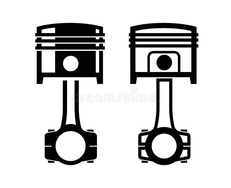 Bilpistongsymbol stock illustrationer