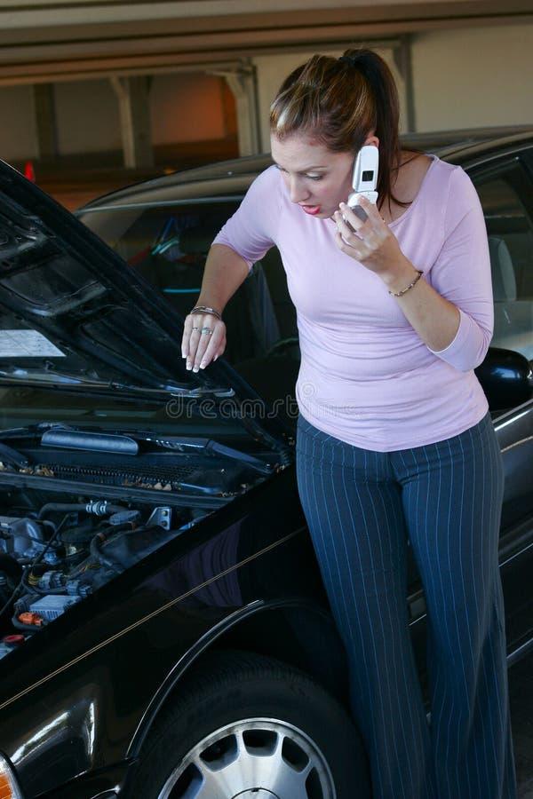 bilproblem fotografering för bildbyråer