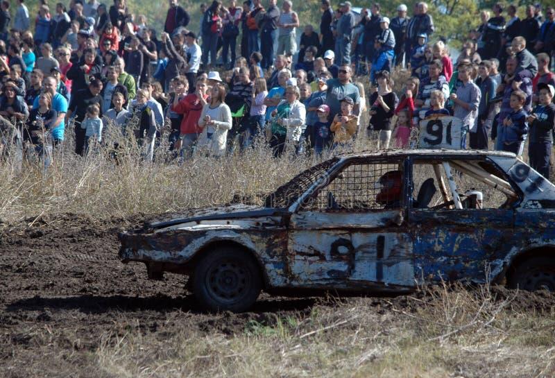 Bilrace för överlevnad royaltyfri bild