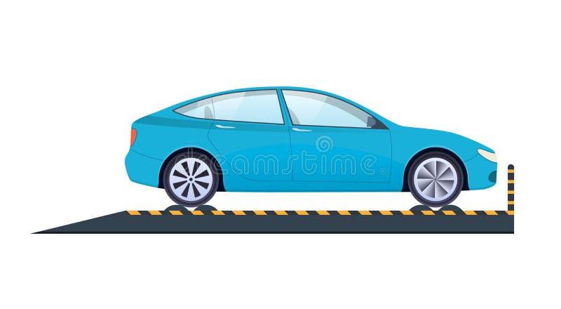 Bilreparation service för utbyte för bunkebilelevator lyftolja Bärande forcerat prov, diagnostik, teknisk kontroll royaltyfri illustrationer