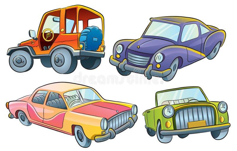 bilsamling vektor illustrationer