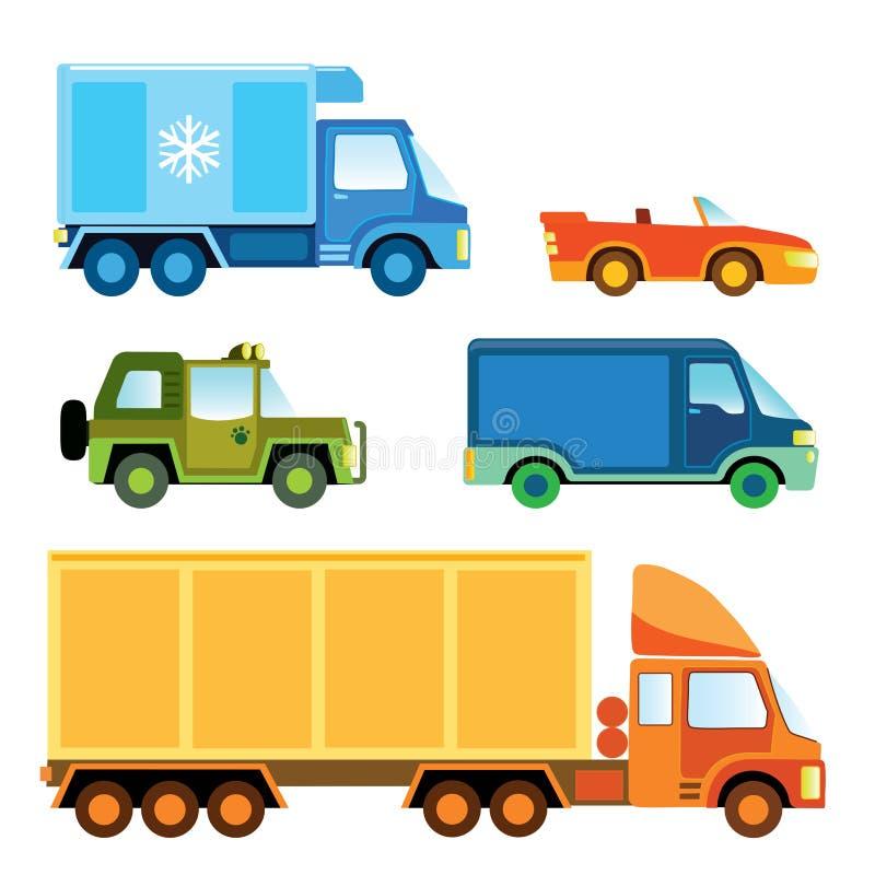 bilsamlingstoy vektor illustrationer