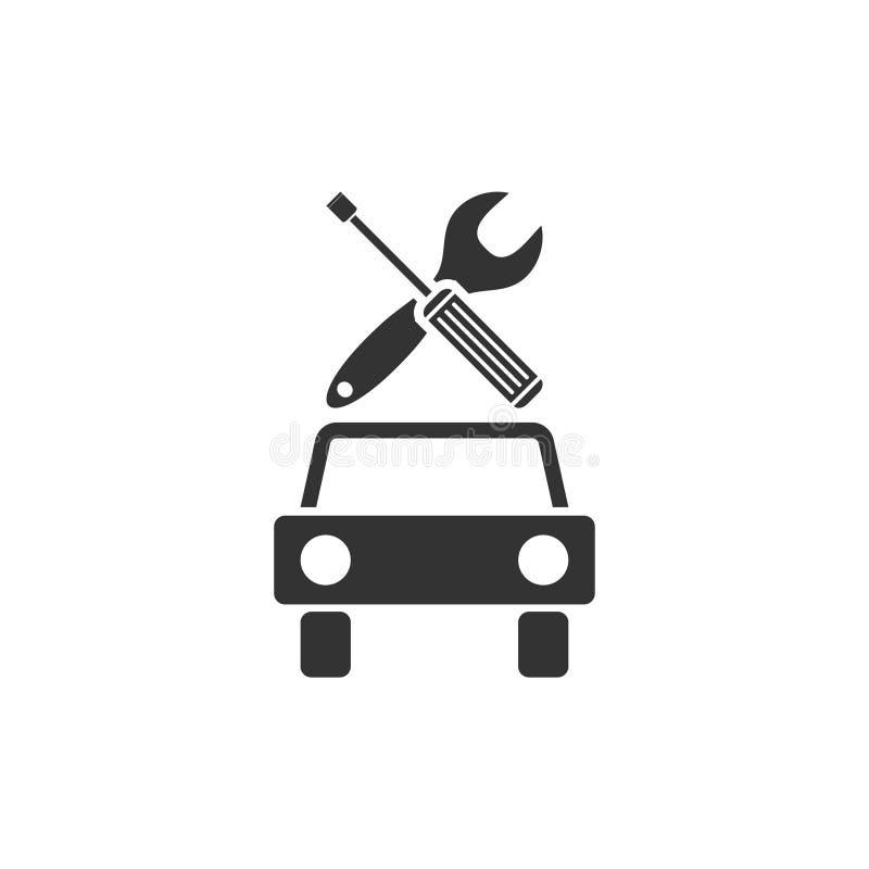 Bilservicesymbol framlänges vektor illustrationer