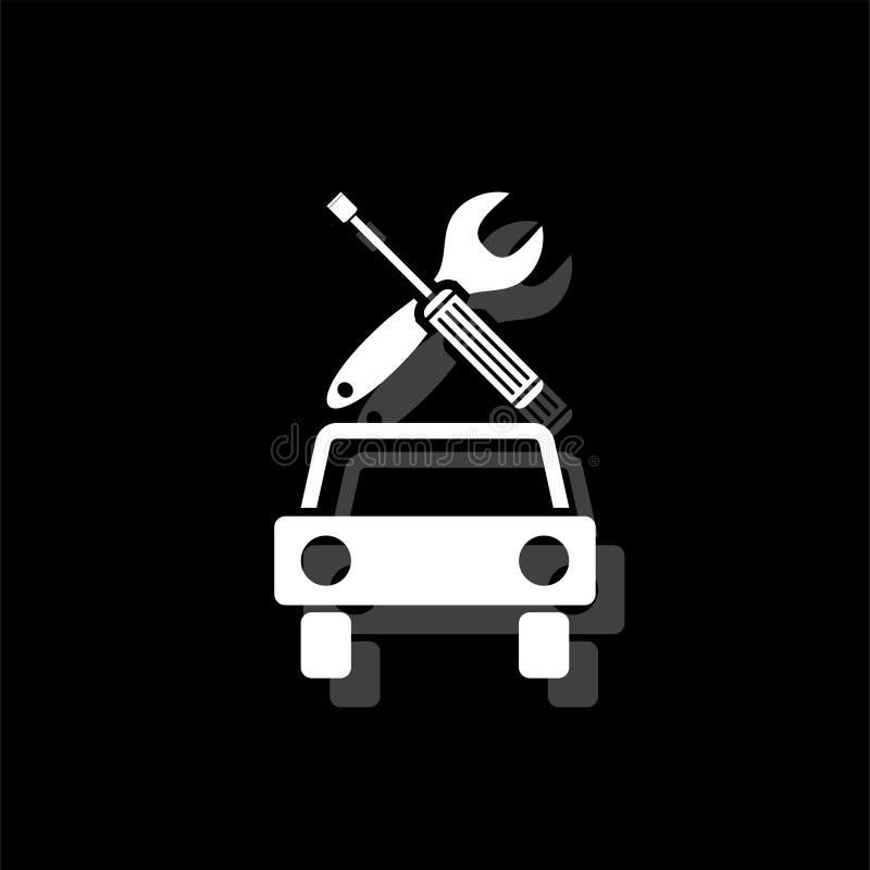 Bilservicesymbol framlänges royaltyfri illustrationer