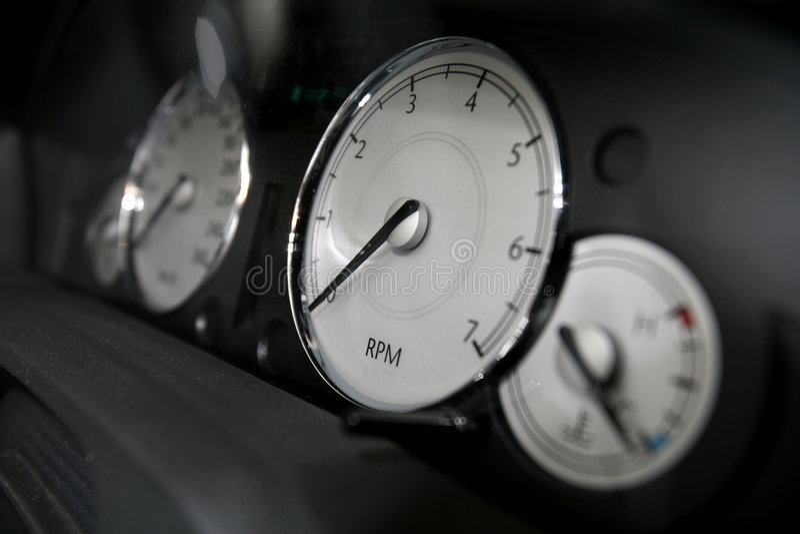 bilspeedometer royaltyfri fotografi