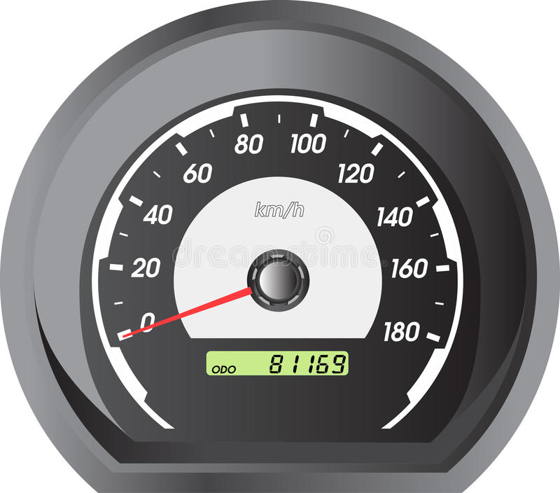 Bilspeedometers för tävlings- design. royaltyfri illustrationer
