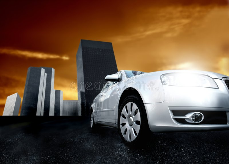 bilstad fotografering för bildbyråer