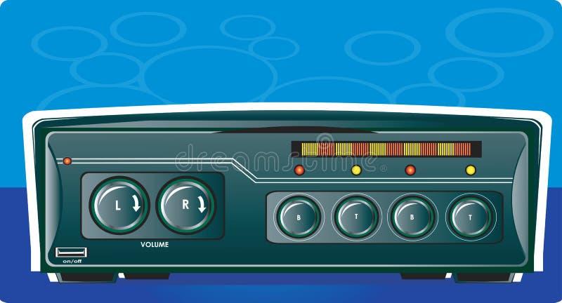 Bilstereo med radion royaltyfri illustrationer