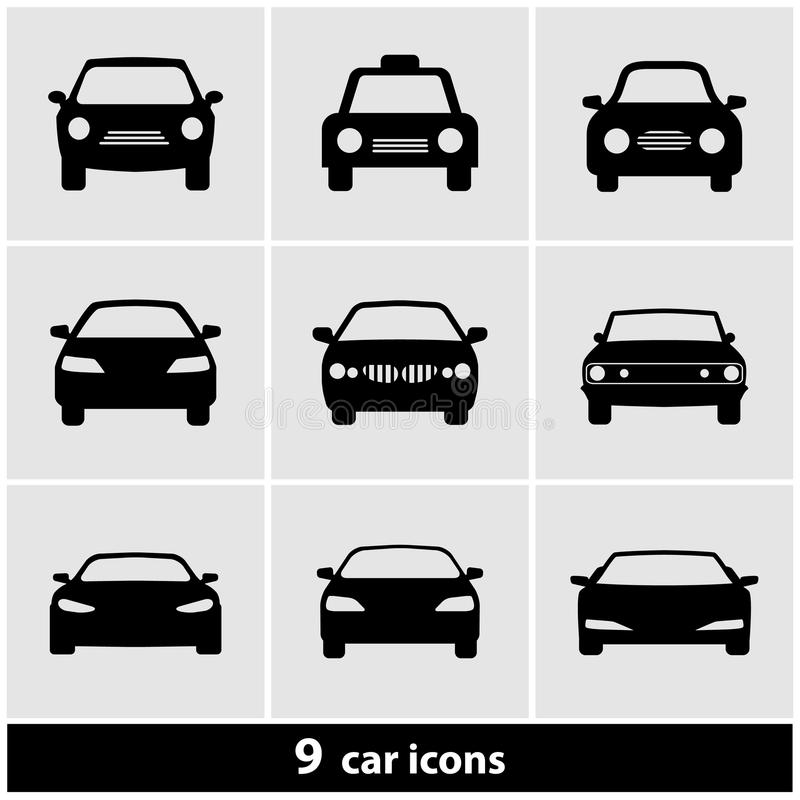 Bilsymbolsuppsättning vektor illustrationer