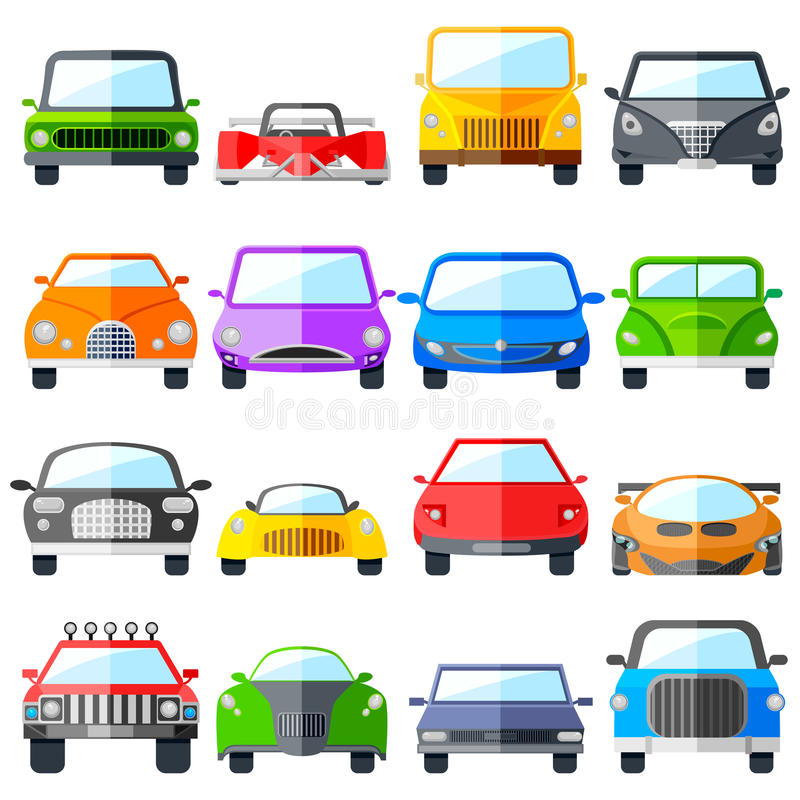 Bilsymbolsuppsättning stock illustrationer