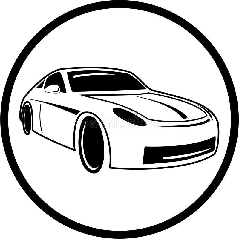bilsymbolsvektor royaltyfri illustrationer