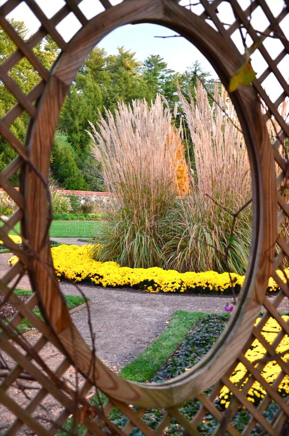 Biltmore庄园庭院,阿什维尔NC 库存照片