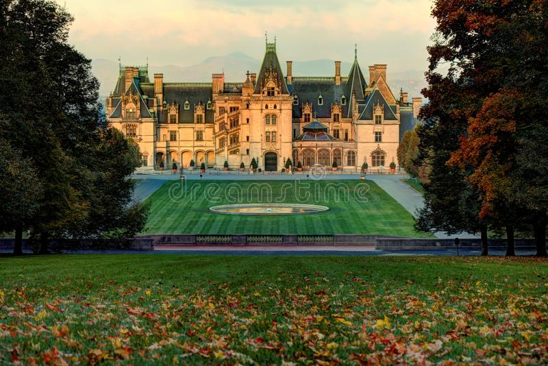 Biltmore Autumn. Autumn comes to Biltmore house royalty free stock image