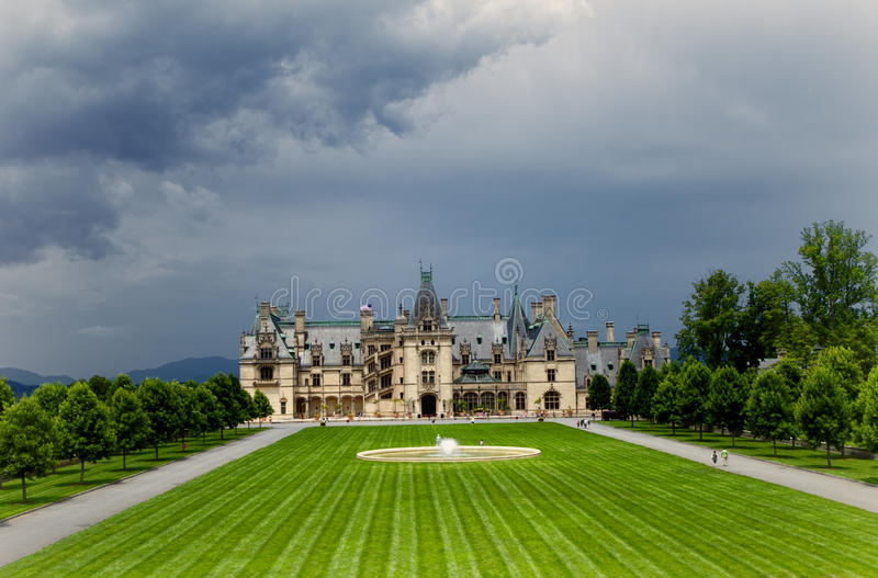 The Biltmore in HDR. The Biltmore house, built by George Washington Vanderbilt II between 1889 and 1895, located near Asheville, NC (HDR royalty free stock photography