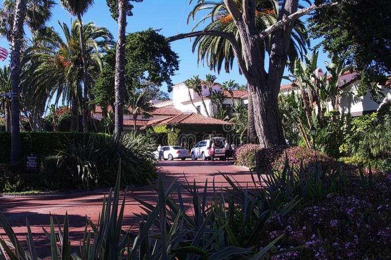 The Biltmore Hotel & Resort. The Santa Barbara Biltmore also known as the Biltmore is a luxury hotel located in Santa Barbara, California. Opened in 1927 as part royalty free stock photo