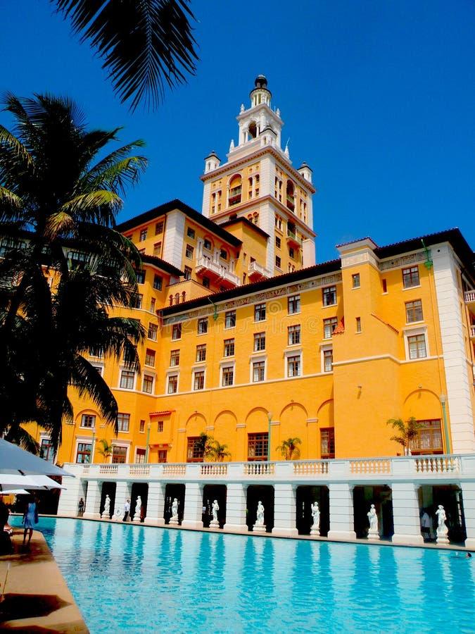 Biltmore hotell, Coral Gables Florida arkivfoton