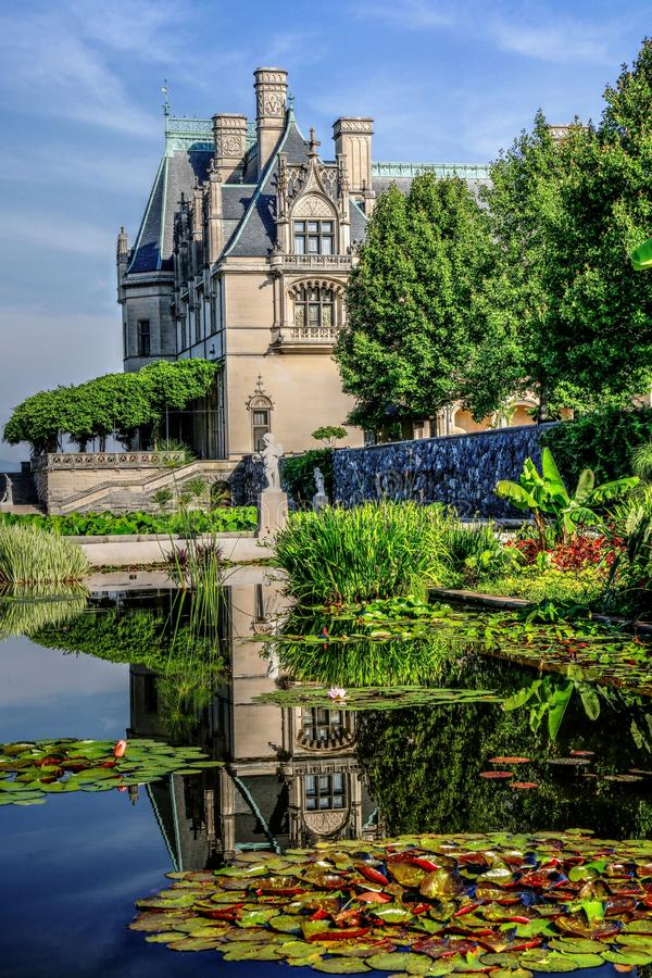 Biltmore Reflection In The Italian Gardens II royalty free stock photography