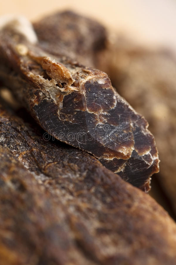 Free Biltong - Dry Cured Meat , Super Macro Royalty Free Stock Photography - 14426747