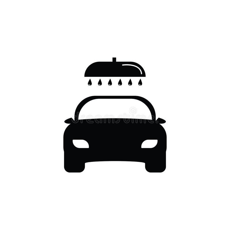 Biltvättsymbol stock illustrationer