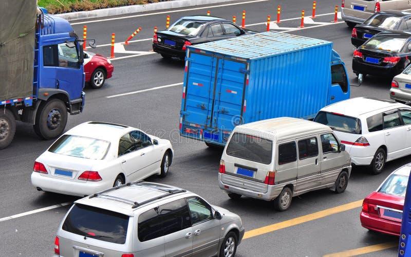 bilvägrunning arkivbilder