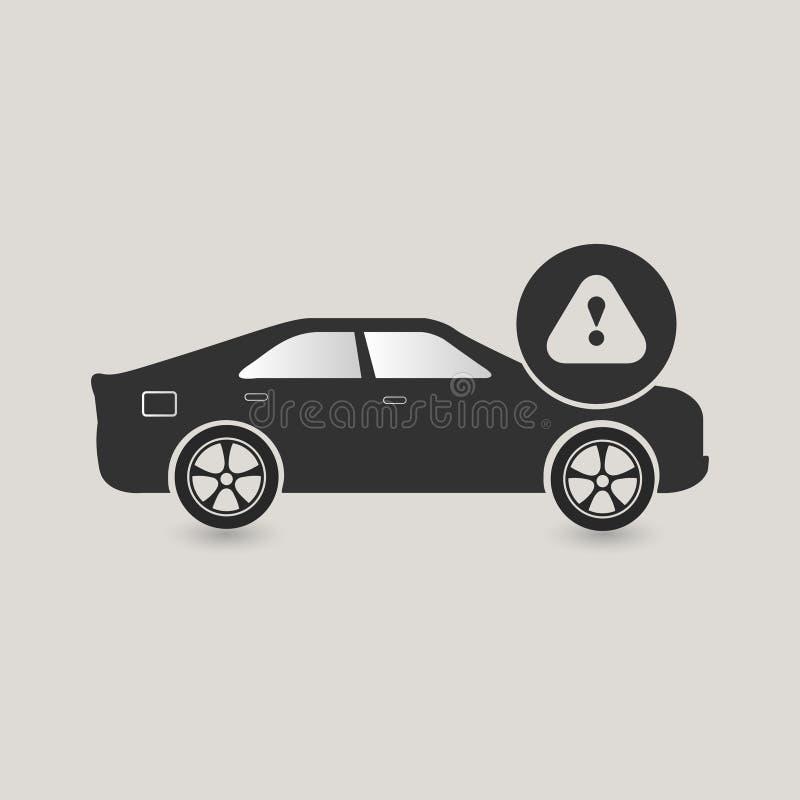 Bilvarningssymbol stock illustrationer
